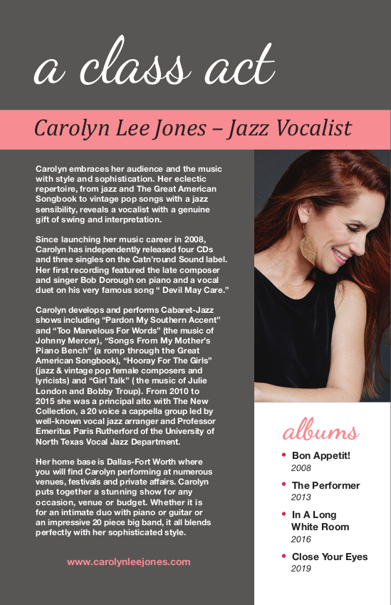 Carolyn Lee Jones Press Kit